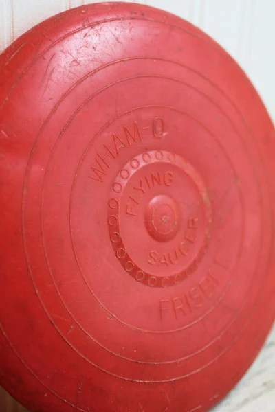 Vintage Toy Frisbee red 1950s or 1960s Wham O Flying Saucer