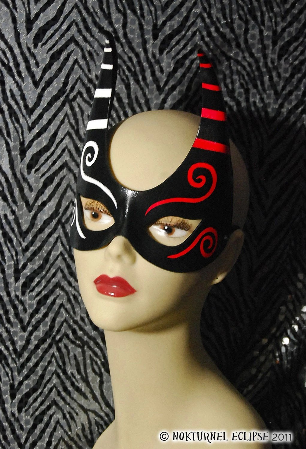 Half Leather Spiked Mask