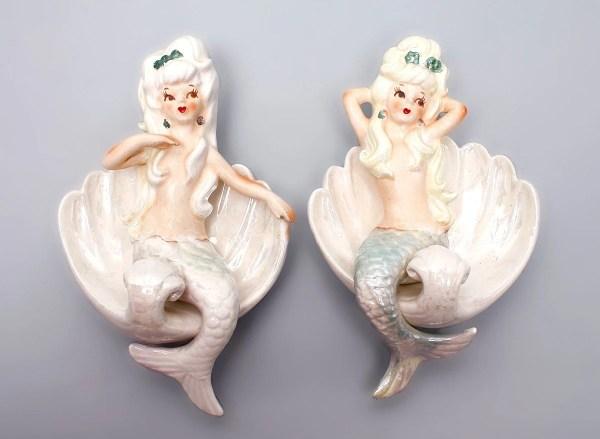 Vintage Mermaid Wall Plaque