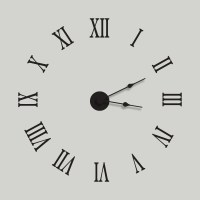 Large / Extra Large Wall Clock Decal Kit Vinyl Wall by ...