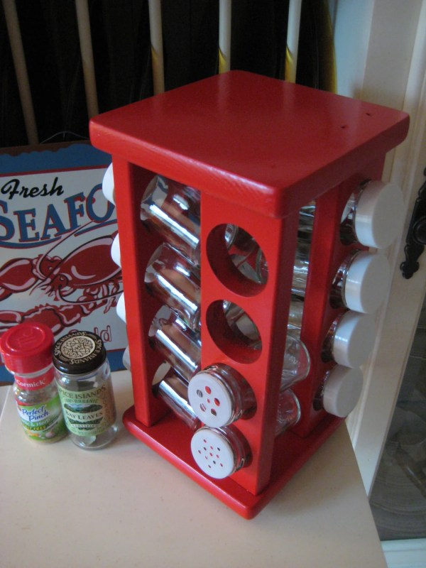 Red Spice Rack