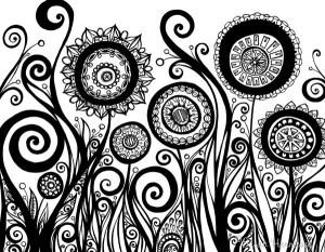 pen ink drawing drawings flower flowers intricate swirl swirls simple draw loooove especially ones pens pattern swirly heart leaves very