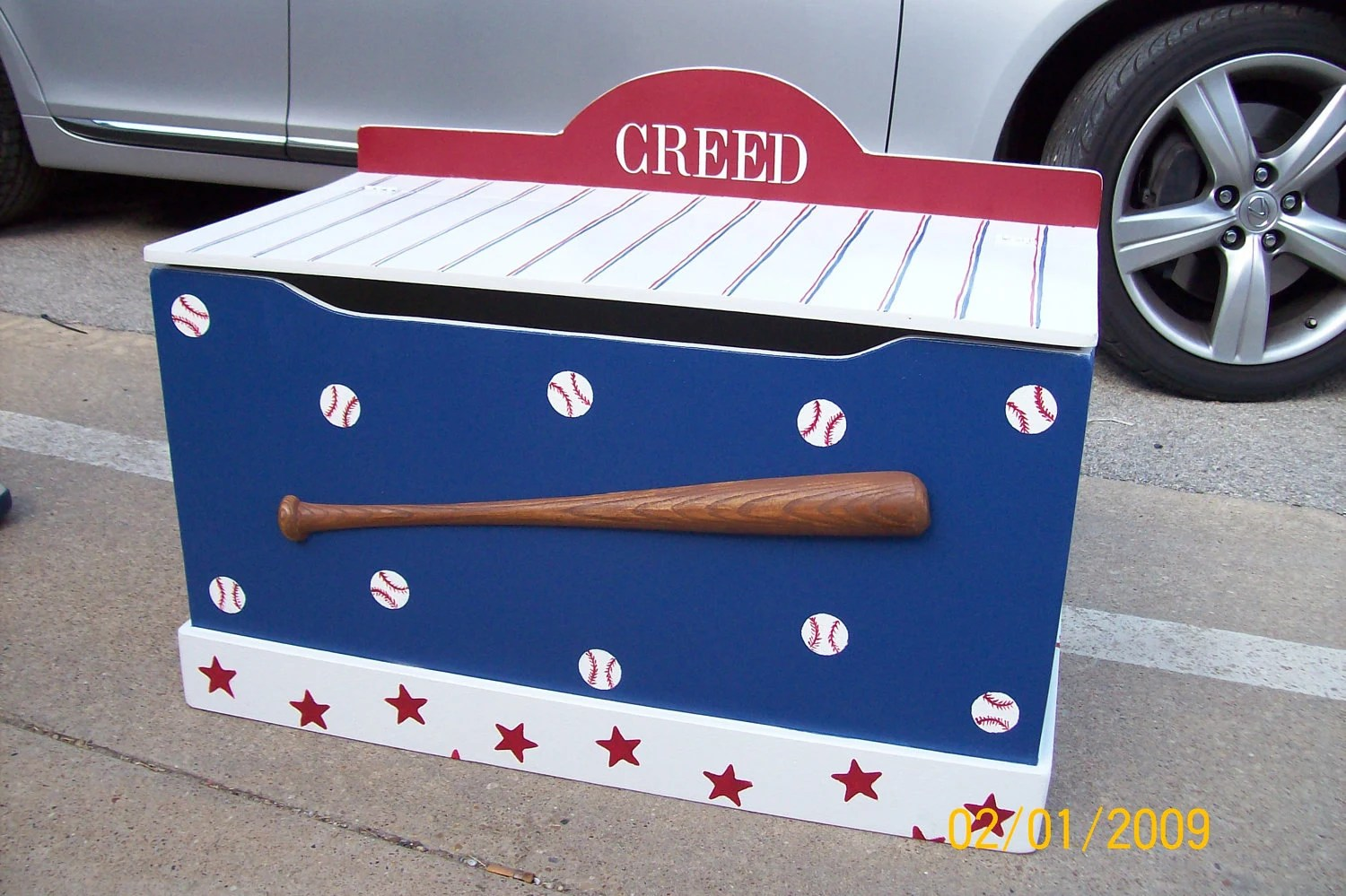 Toy Chest Toy Boxes Toy Storage Bench Baseball Sports Themed