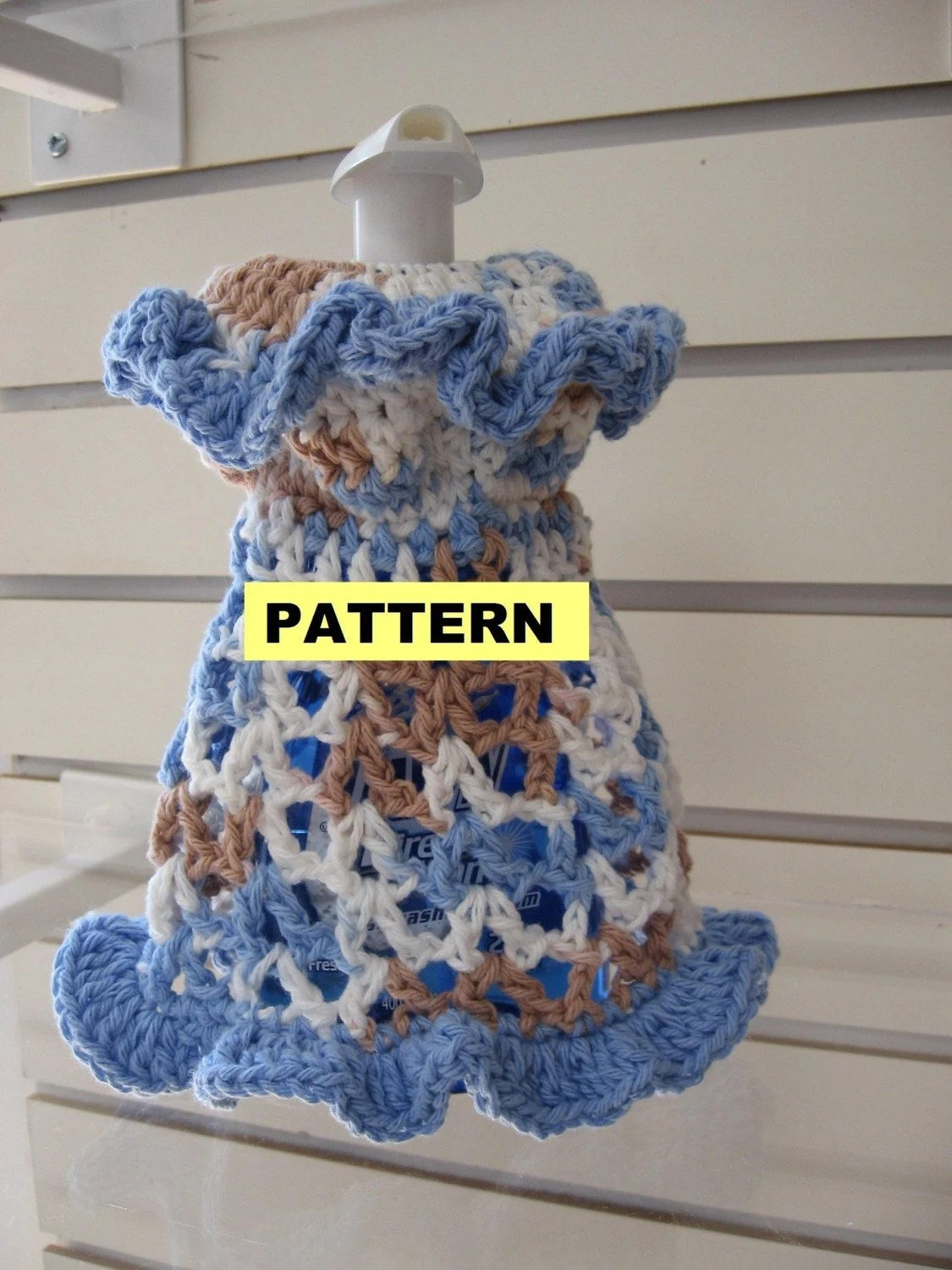 kitchen cotton yarn tables and more crochet patterns dishcloth dresses 2 styles by ...