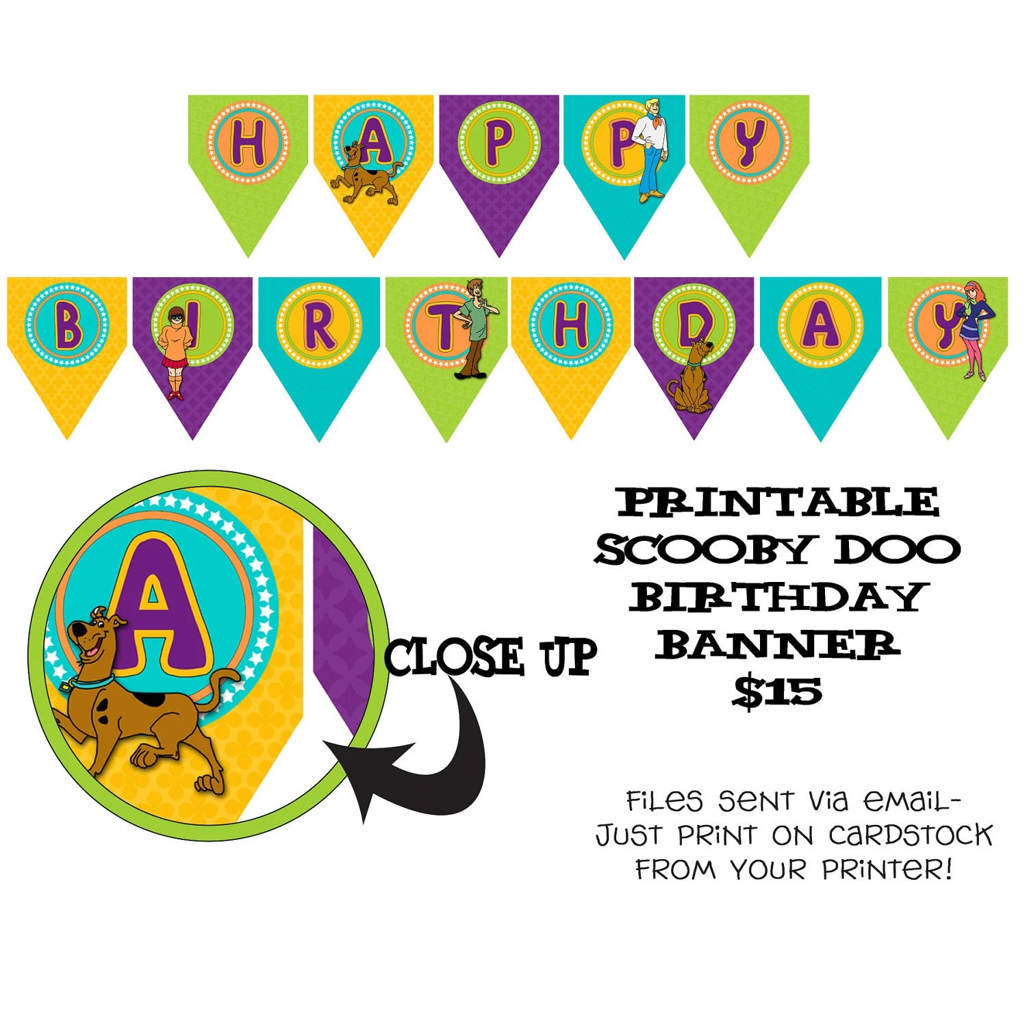 Printable Diy Scooby Doo Inspired Theme By Onelovedesignsllc