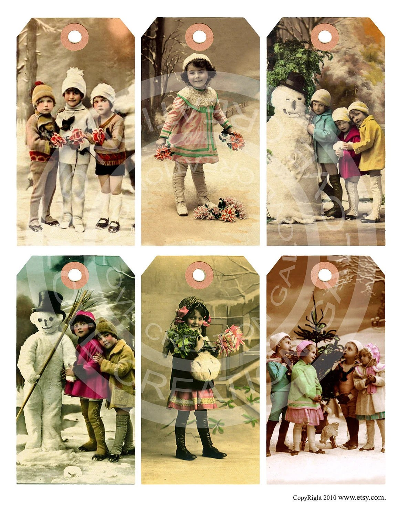 Items Similar To Vintage Victorian Children Christmas Girl