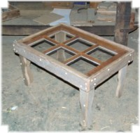 Old Window Coffee Table by wooddesignsby on Etsy