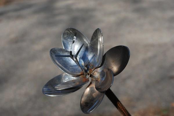 Spoon Flower Recycled Garden Yard Art Sculpture