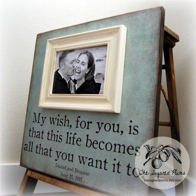 Picture Frame Personalized Picture Frames by thesugaredplums