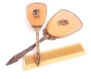 vintage vanity set golden hair