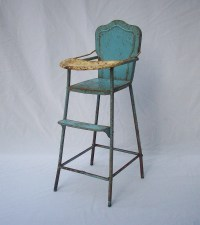 Vintage Doll High Chair / Metal / Anesco