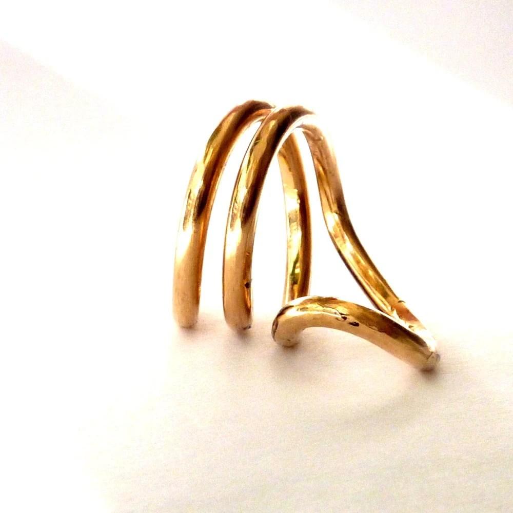 Cobra Gold Ring Schlangenring Form Aussage Ring Yoga Naga