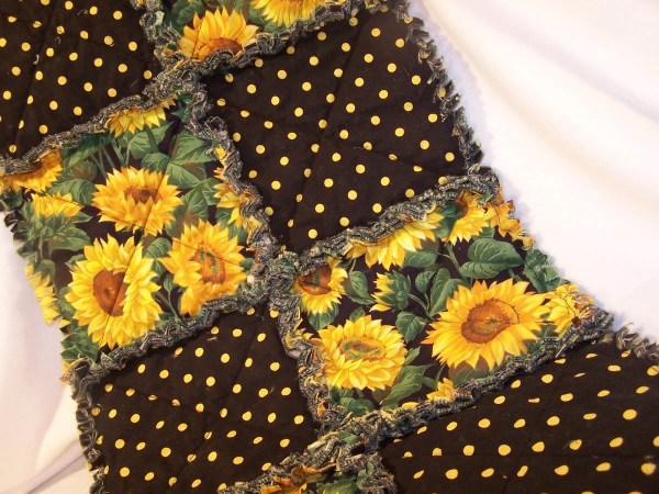 Sunflower Rag Quilt Table Runner With Kristinscountryhome