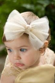 glittering tulle bow headband