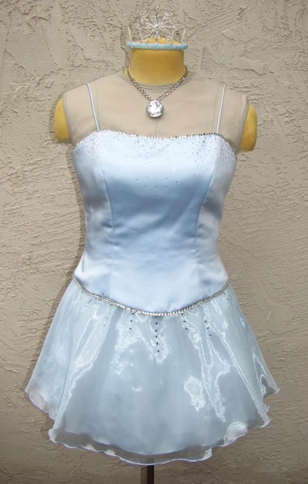 Ice Princess Costume Dress With Tiara
