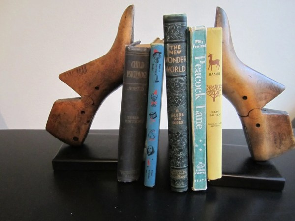 Wooden Shoe Mold Bookends