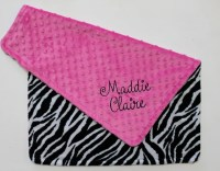 Items similar to PERSONALIZED DOUBLE MINKY Baby Girl ...