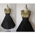 Vintage Black Cocktail Dress