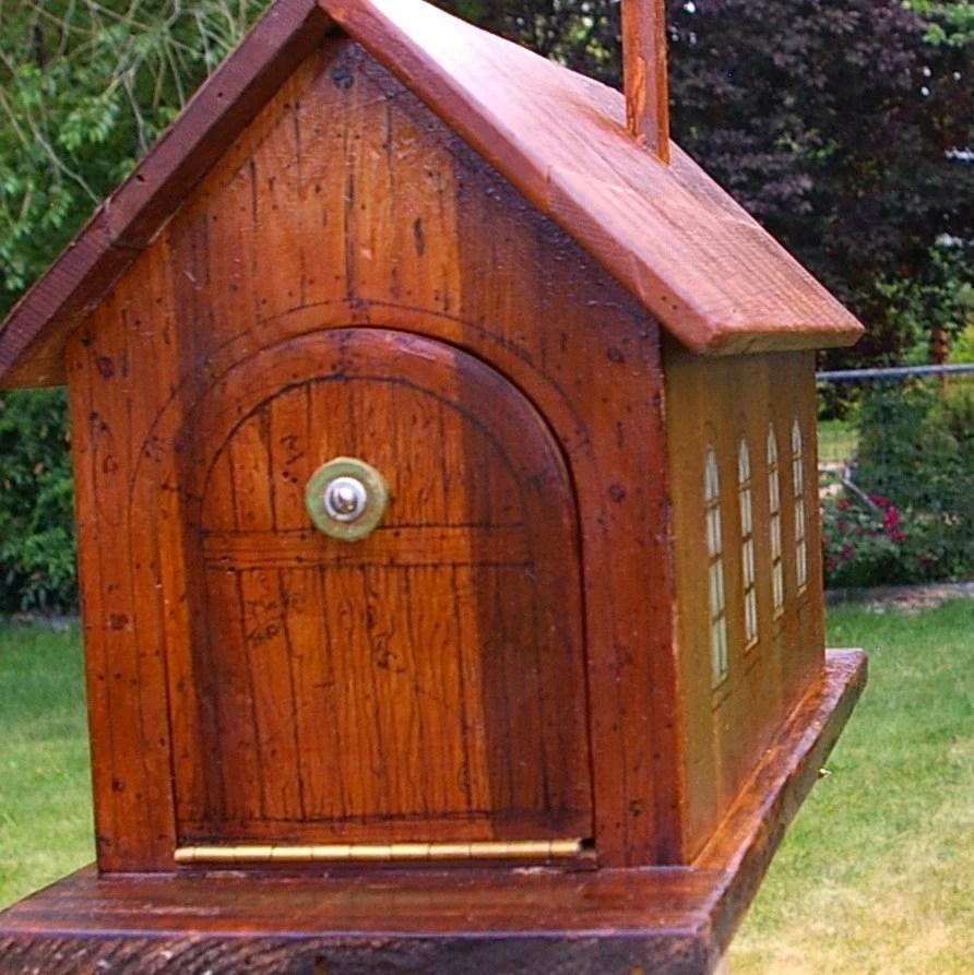 Custom Wooden Mailbox Free Shipping