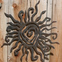 Rustic Sun Indoor/Outdoor Wall Decor 30 by fttdesign on Etsy