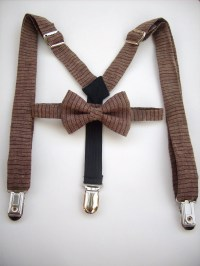 SALE bow tie and suspenders for toddler boy brown by ...