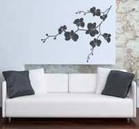 Orchid Wall Decal Floral Wall Decal Nature Flower Branch
