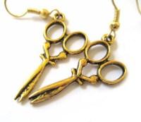 Gold Scissors Jewelry Scissor Earrings Kitsch Earrings Crafty