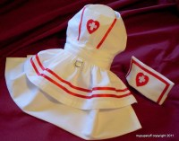 Nurse Dress and Hat Costume for Dogs XXXSXXSXSSM