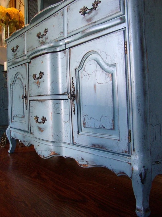 French Country Buffet in a French Country Blue