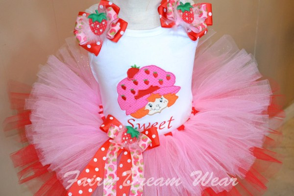 Strawberry Shortcake Vintage Tutu Set Fairydreamwear
