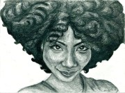 natural hair portrait art print