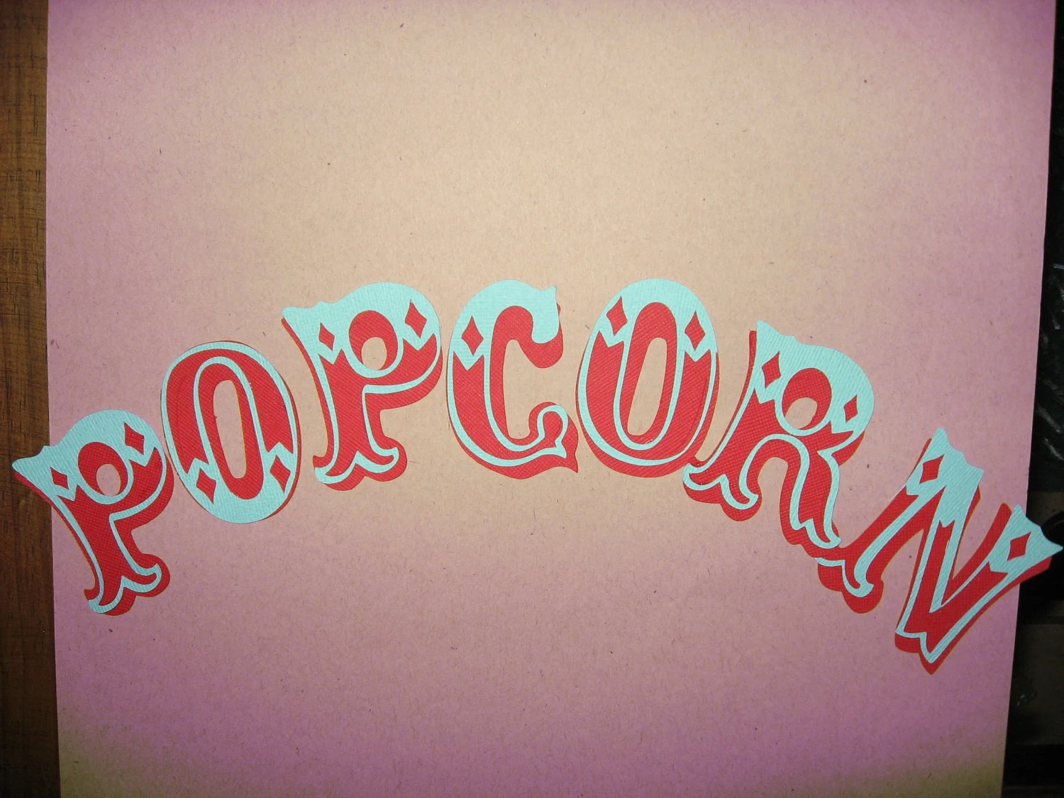 Popcorn Cut Word 2 25 Inches Each Letter Carnival
