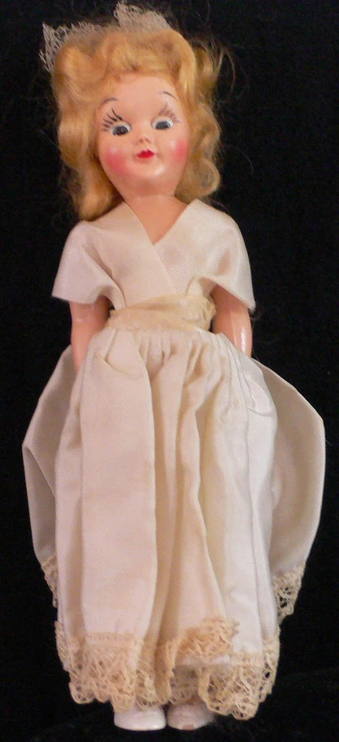 Items similar to Vintage Bride Doll blonde 30s 40s 50s