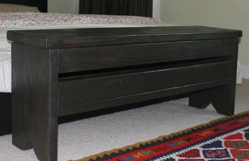 4 Foot Narrow Trunk Storage Bench