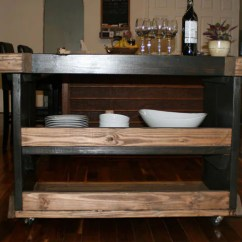 Ready Made Island For Kitchen Lowes Lighting Beautiful Two Toned / Industrial Reclaimed