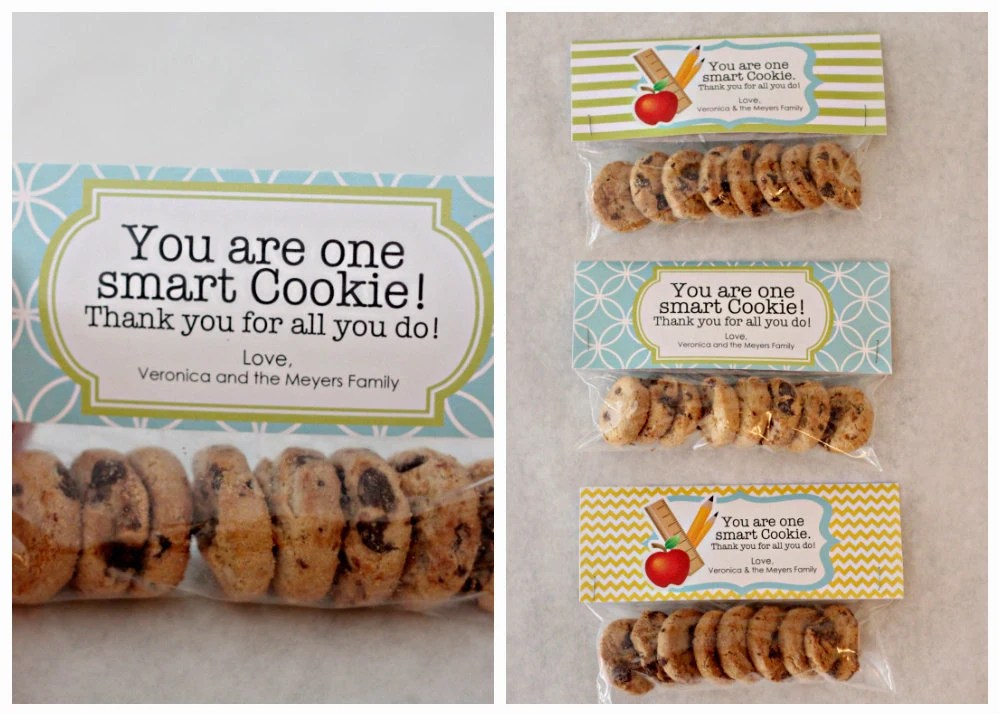 Teacher Gift: One Smart Cookie Treat Bag Tags - Printable PDF