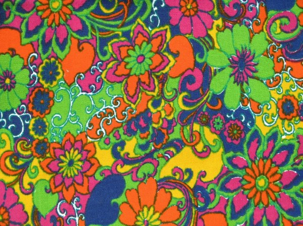 Years Pop Art Pandemonium Vintage 60s 70s Fabric