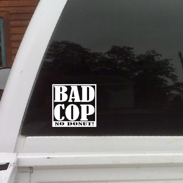 Bad Cop No Donut Funny Car Decals Window Laptop Funny Cop