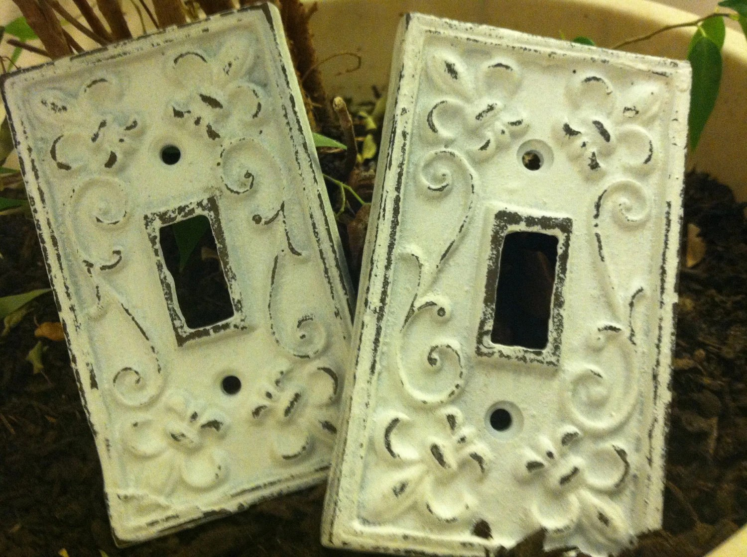 Cast Iron Light Switch Plate / Single Cast Iron Plate / Witch