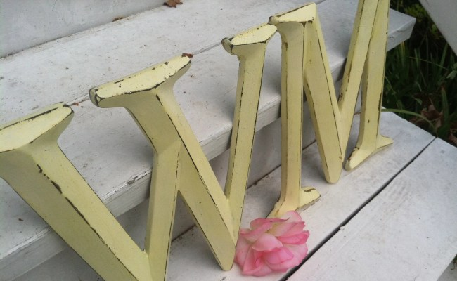 Wall Decor Large Letter Shabby Chic Wall Decor New Color