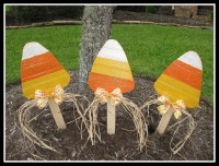 Items similar to Wood Candy Corn Fall Decoration Yard ...