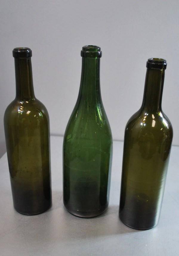 Vintage Glass Wine Bottle