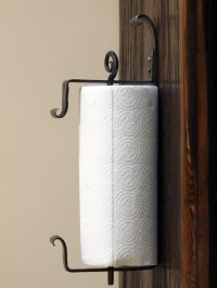 Wall Mounted Iron Paper Towel Holder. Hand Forged by a