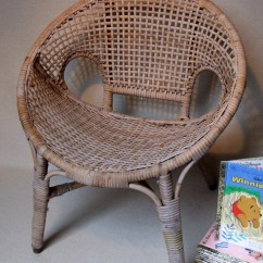 Childs Rattan Chair Rollator Transport Mid Century Pod