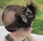 items similar camo hair bow
