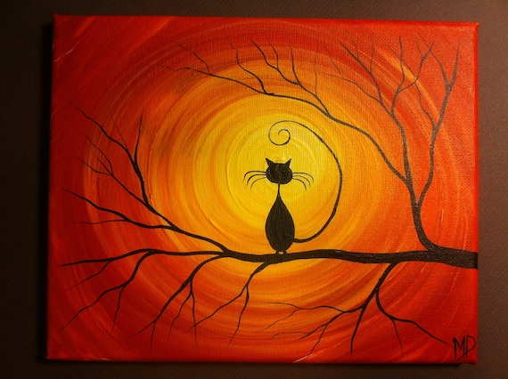 Original Whimsical Acrylic Painting What Can I See 8 x 10