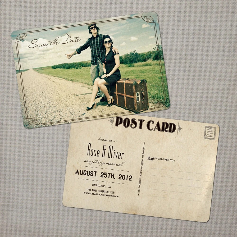 Save Date Cards Postcard