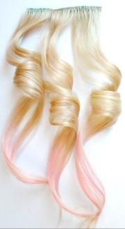 rose gold human hair extension