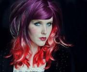 fairy flourish wig purple red