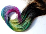 peacock human hair extensions dip